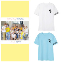 Kpop SEVENTEEN T-shirt 2020 Online Concert Commemorative Clothes Short Sleeve Loose T-shirt