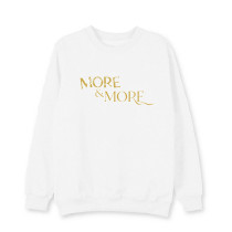 Kpop TWICE sweater Returns Round Neck Sweater Korean Version Pullover Coat Plus Velvet Thin Section Loose Sweatershirt