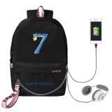 Kpop BTS Backpack Bangtan Boys Return MAP OF THE SOUL7 Schoolbag  USB Charging Canvas Bag
