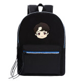 Kpop BTS Backpack Bangtan Boys Schoolbag Backpack Student Canvas Bag V SUGA JUNGKOOK