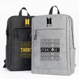 Kpop BTS Backpack Bangtan Boys School Bag Backpack Outdoor Sports Travel Canvas Bag Casual Bag