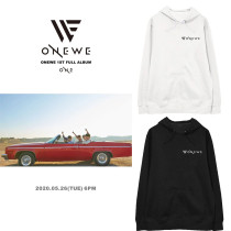 Kpop ONEWE Sweater Printed Hoodie Loose Plus Velvet Thin Hooded Sweater Sweatershirt