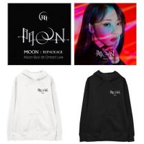 Kpop MAMAMOO Sweater Printed Hoodie Loose Plus Velvet Thin Hooded Sweater Sweatershirt Moon Byul