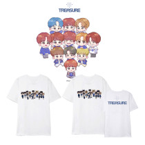 Kpop TREASURE T-shirt Q Version Short Sleeve Street Fashion  Top Shirt T-shirt