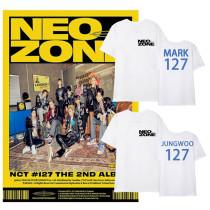 Kpop NCT127 T-shirt Same Peripheral Short-sleeved T-shirt Street Fashion Trend Shirt Short Sleeve