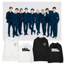 Kpop NCT127 Sweater NEW ZONE New Album Hooded Sweater Plus Velvet Thin Top