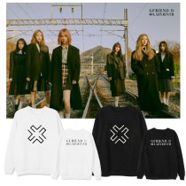 Kpop GFRIEND Sweater New Album Round Neck Sweater Loose Plus Velvet Thin Coat