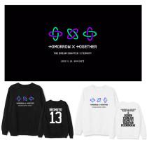 Kpop TXT Sweater TOMORROW_X_TOGETHER Round Neck Sweater Loose Coat Sweatshirt YEON JUN  TAEHYUN  HUENINGKAI  BEOMGYU