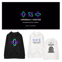 Kpop TXT Sweater TOMORROW_X_TOGETHER Hooded Sweatshirt Velvet Thin Coat Sweatshirt