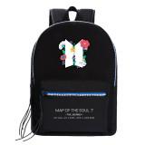 Kpop BTS Backpack Bangtan Boys MAP OF THE SOUL7 School Bag Backpack Backpack Student Canvas Bag
