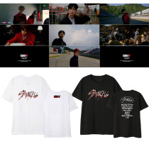 Kpop Stray Kids T-shirt Album GO Short sleeve T-shirt loose bottoming shirt T-shirt