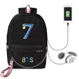 Kpop BTS Backpack Bangtan Boys 2020 Returns USB Charging Bag Sports Backpack Shoulder Bag