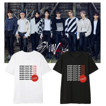 Kpop Straykids T-shirt Fan Korean Version Loose Korean Version Bottoming Shirt Short Sleeve