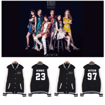 Kpop (G)I-DLE Baseball Uniform With The Same Korean Version of Loose Student Jacket