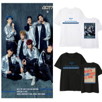 Kpop GOT7 T-shirt 6th Anniversary Fan Meeting Short-sleeved Loose Bottoming Shirt T-shirt