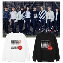 Kpop Straykids Round Neck Sweater Korean Version Loose Loose Plus Velvet Thin Coat Sweatshirt