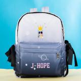 Kpop BTS Backpack Bangtan Boys School Bag Backpack Backpack Fresh Lace Gradient Color College Style Canvas Bag