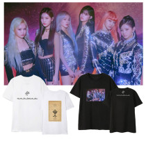 Kpop  Everglow T-shirt New Album Casual Loose T-shirt Lovers Shirt Top Short Sleeve