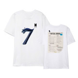 Kpop BTS T-shirt Bangtan Boys Returns Album MAP OF THE SOUL 7 T-shirt Short Sleeve Bottoming Shirt Top