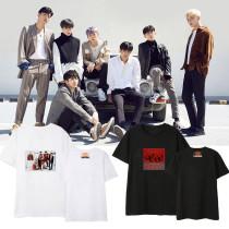 Kpop iKON T-shirt Same Paragraph Street Student Loose T-shirt Couple Dress Short Sleeve