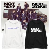 Kpop NCT Sweater Returns Hooded Hoodie same Paragraph Korean Version Hoodie Loose all-match Sweatshirt