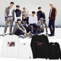 Kpop IKON Round Neck Sweater with the same Paragraph Spring and Summer Season Street Students Loose Couple Sweatshirt