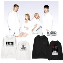 Kpop KARD Sweater 2020 Concert Hooded Sweater Plus Velvet Thin Coat Hoodie Sweatershirt