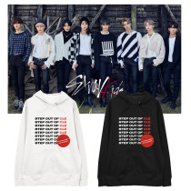 Kpop Straykids Sweater Hooded Sweater Hoodie Korean style loose plus velvet thin coat sweatshirt