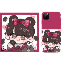 Kpop BTS Phone Case Bangtan Boys Hand-painted Protective Cover for iphone11/XS anti-fall Hard Shell