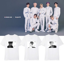 Kpop Super M T-shirt Korean Version Loose Bottoming Shirt Short Sleeve LUCAS MARK KAI TEN