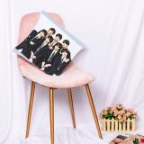 Kpop BTS Pillow Case Bangtan Boys Cushion Digital Printing Single Pillow Waist Pillow Cushion