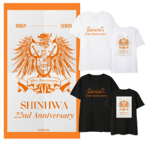 Kpop Shinhwa 22th Anniversary T-shirt Bottoming Shirt Loose Short Sleeve Eric Lee Minwoo Kim DongWan  Andy