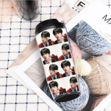 Kpop BTS Water Cup Bangtan Boys MAP OF THE SOUL7 Straw Cup Plastic Cup Double Layer Heat insulation Accompanying Cup