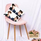 Kpop BTS Pillow Case Bangtan Boys Album Pillow Digital Print Sofa Pillow Single Waist Pillow V SUGA JIMIN JIN J-HOPE JUNG KOOK RAP MONSTER