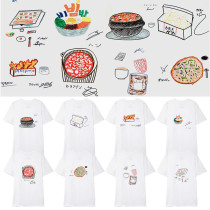 Kpop Stray Kids T-shirt Hand-painted Food T-shirt Korean Version Loose Short Sleeve Shirt