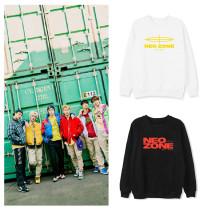 Kpop NCT127 Sweater NEO ZONE Round Neck Sweater Top Plus Velvet Thin Coat Top Couple Lovers Sweatshirt