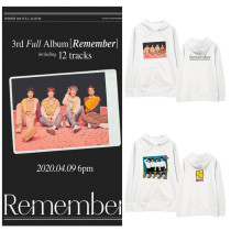 Kpop WINNER Sweater New Album Remember Hooded Sweater Spring and Autumn Plus Velvet Thin Sweatershirt