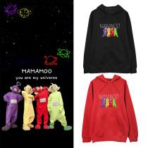 Kpop MAMAMOO Sweater Teletubbies Hooded Sweater Cute Loose Lovers Dress Plus Velvet Thin Coat Sweatshirt