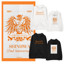 Kpop Shinhwa Sweater 22nd Anniversary Hooded Sweatshirt Loose Casual Plus Velvet Thin Coat Sweatshirt
