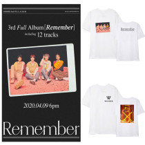 Kpop WINNER T-shirt New Album Remember T-shirt Korean Bottoming Shirt Short Sleeve