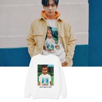 Kpop WANNA ONE Sweater Daniel Round neck sweater Plus Velvet Thin Top Couple Lovers Sweatshirt