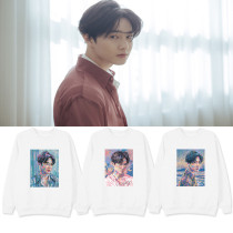 Kpop EXO Sweater SUHO Album Solo Self-Portrait Round neck sweater Plus Velvet Sweatshirt