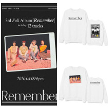 Kpop WINNER Sweater New Album Remember Round Neck Sweater Plus Velvet Thin Sweatshirt