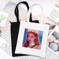 Kpop BLACKPINK Shoulder Bag Canvas Bag Hand-painted Storage Bag  Handbag