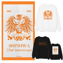 Kpop Shinhwa Sweater 22 Anniversary Round Neck Sweater Plus Velvet Thin Top Couple Sweatershirt