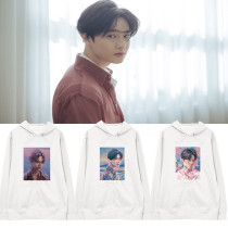 Kpop EXO Sweatshirt SUHO Album Solo Self-Portrait Hooded Sweatshirt Plus velvet Jacket Sweatshirt