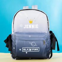 Kpop BLACKPINK  Backpack Schoolbag Shouldergra dient School Canvas Bag LISA ROSE JISOO JENNIE