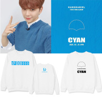 Kpop WANNA ONE Sweater Daniel's New Album CYAN Round Neck Sweater Plus Velvet Thin Section Top Couple Sweatshirt