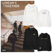 Kpop TXT Sweatshirt FANLIVE DREAM X TOGETHER Hooded Sweatshirt  Velvet Thin Coat Sweatshirt