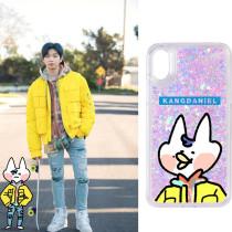 Kpop WANNA ONE Quicksand Phone Case Daniel for iphone8P/X Anti-fall Hard Shell
